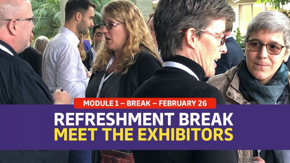 01.01.04 —  February 26 — Mid-morning Refreshments: Meet The Exhibitors