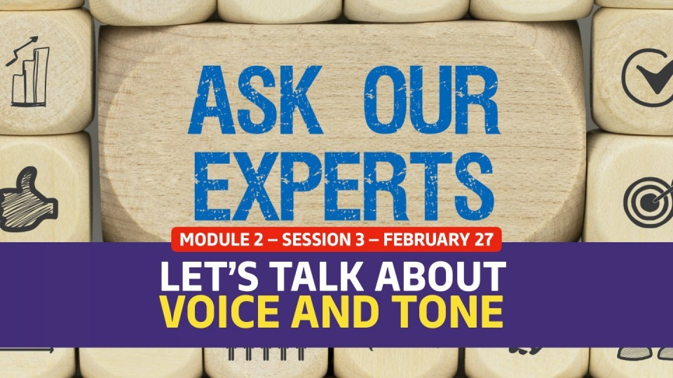 02.02.03 — February 27 — Let's Talk Voice and Tone
